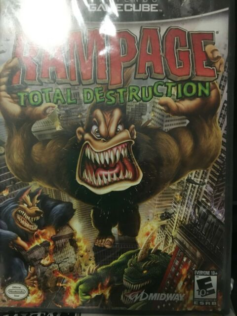 Rampage Total Destruction Nintendo Gamecube 2006 For Sale