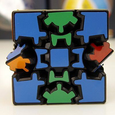 New Lanlan Gear 3x3 Dodecahedr Cube Black Magic Cube Puzzle Toy Gift