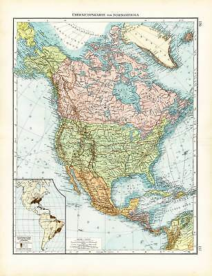 Antique Map-NORTH AMERICA-CANADA-MEXICO-USA-BLACK POTION-Andree-1904 on mexico political map, usa and usa, usa and california, usa and mexica map, usa and belgium map, usa and haiti map, usa and latin america map, usa and north korea map, usa and spain map, usa and canada map, usa and italy map, usa and cuba map, usa and carribean map, usa and texas map, usa and cabo san lucas map, usa and colorado map, usa and philippines map, usa and brazil map, usa and el salvador map, usa and world map,