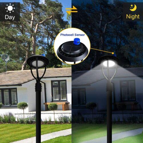 Led Post Top Light 60W LED Circular Area Bulb with Photocell 5000K Daylight DLC