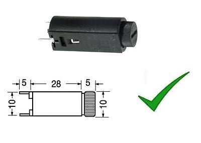 Portafusibile da circuito stampato verticale per fusibili 5x20mm 5x20 mm 1242