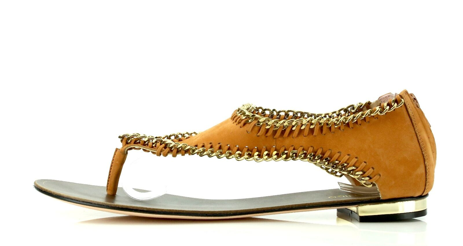 Klub Nico JORDAN Carmel Brown Suede T-Strap Sandals 7135 Size 8 M NEW