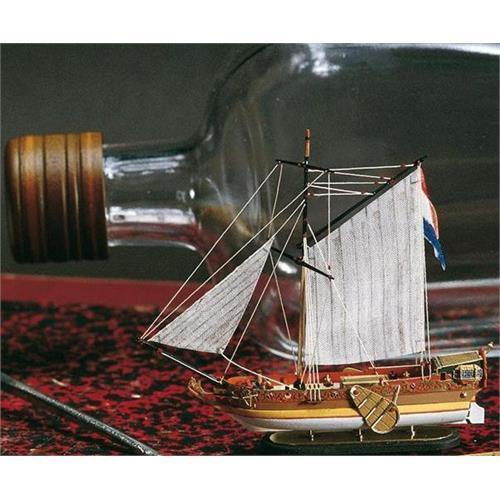 Amati Dutch golden Yacht Ship in a Bottle Kit 1350