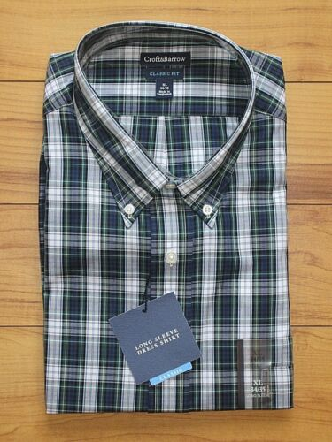 NWT Men/'s Croft /& Barrow Long Sleeve Dress Shirts; Various Sizes /& Colors