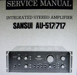 sansui au 517 au 717 int stereo amp service manual inc schem diags rh ebay co uk sansui au 317 ii service manual sansui au 317 ii service manual