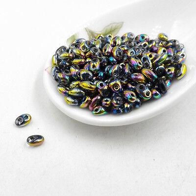 DIY 5x2.5mm Czech Glass Seed Beads Two Hole bead Duo beads 50/100/240pcs