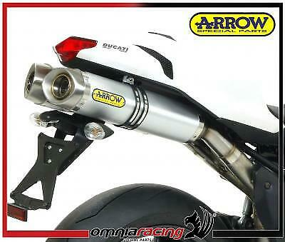 Arrow Thunder Aluminium E9 Homologated Exhausts for Ducati 848 2008 08/
