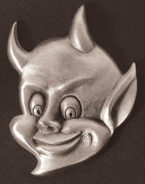 Pewter Devil Dash Plaque, Guitar, Rat Rod Emblem #2