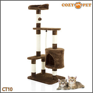 Cozy Pet Deluxe Cat Tree Sisal Scratching Post Quality Cat Trees - CT10-Choc