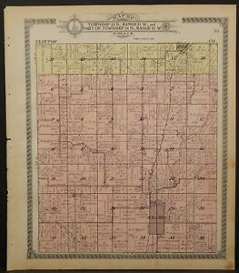 Missouri Clay County Map Kearney Township 1914 L24 57 Ebay