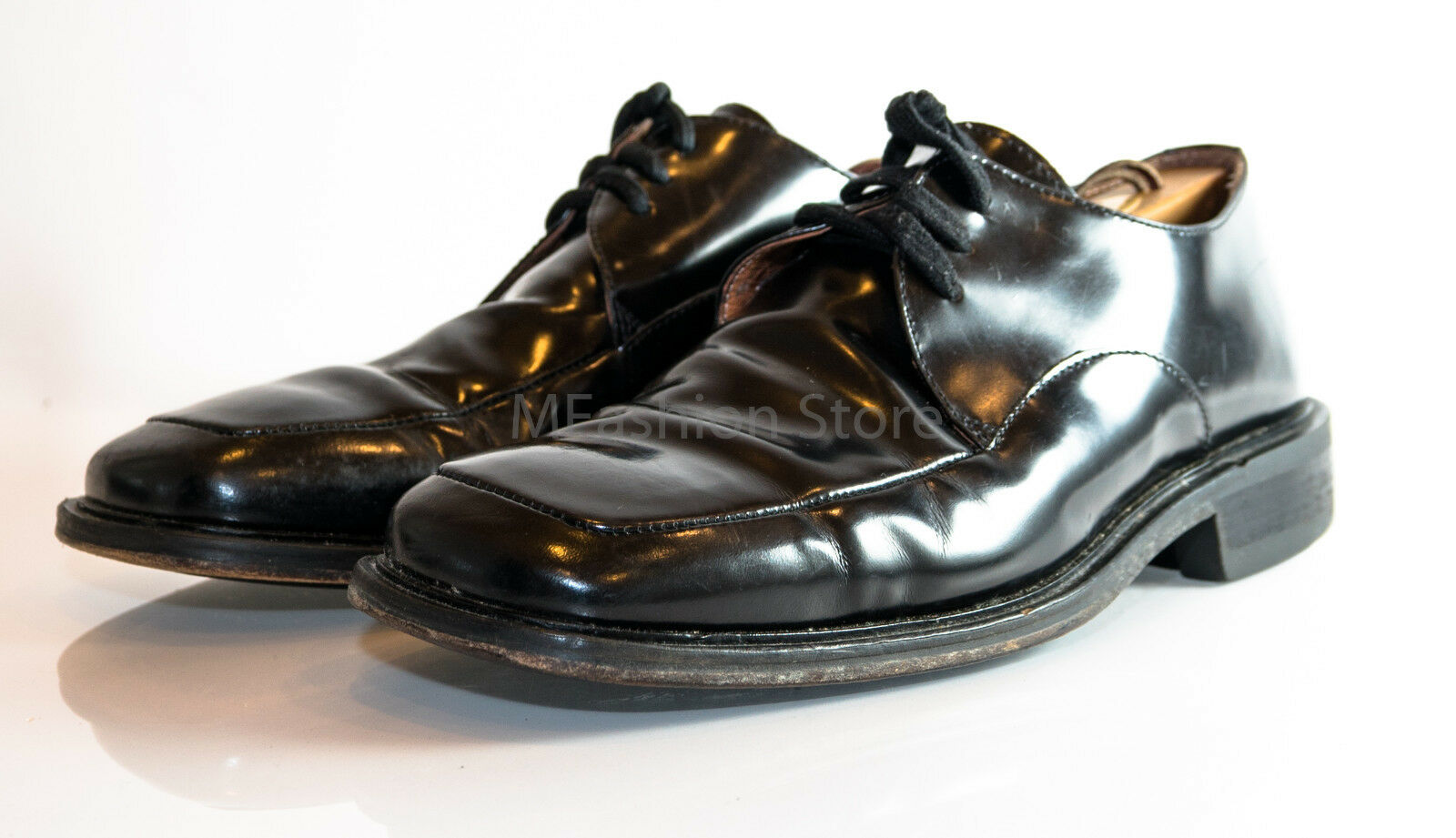 Bacco Bucci shoes Black Leather Dress Oxford Lace Up ITALY Size US 9.5M