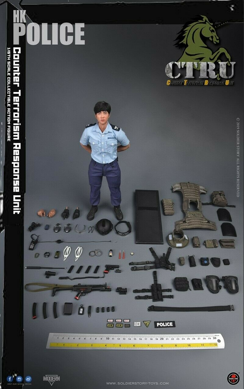 Soldier Story SS115 1 6 HK Police Anti-terrorism Special Service Team Figure Toy