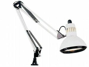 Swing arm desk lamp clamp light work bench computer artist image is loading swing arm desk lamp clamp light work bench aloadofball