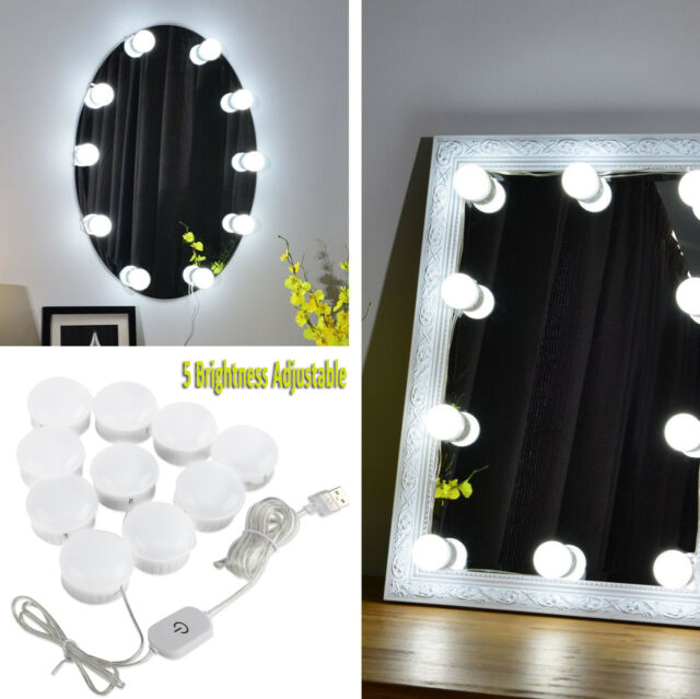 Buy Dimmable 10 Bulbs Led Hollywood Vanity Mirror Light Lamps Strip