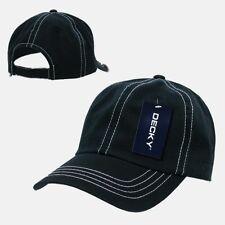 Black & White Washed Cotton Polo Blank Plain Style Low Crown Baseball Cap Hat