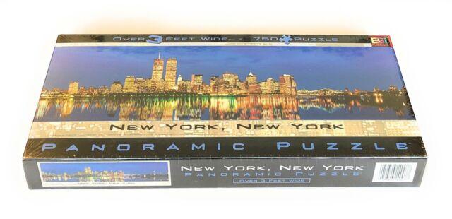 NEW New York City Twin Towers Skyline Panoramic 765 Piece Jigsaw Puzzle BGI NIB