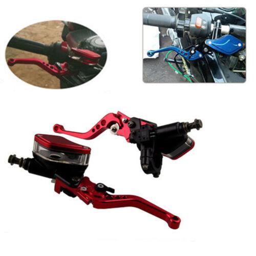 2X Universal Motorcycle Hydraulic Brake Master Cylinder /& Clutch Reservoir Lever