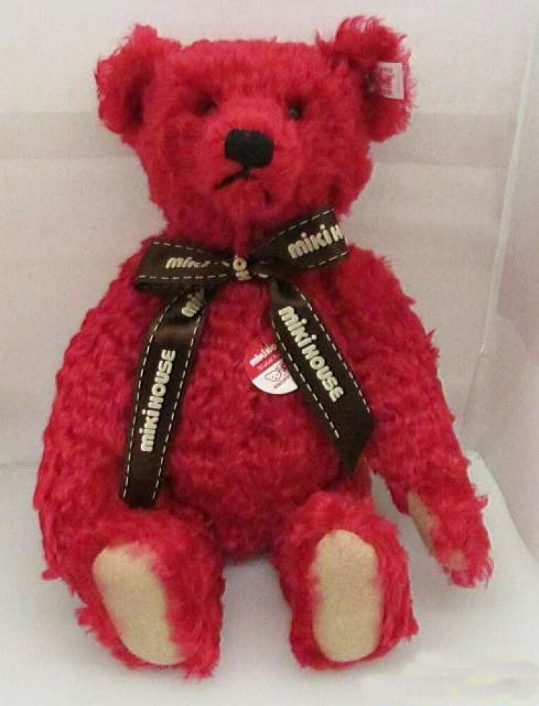 Steiff Teddy Bear Miki House 30th 2001 13.7  Doll Japan 1500 Limited rosso Used