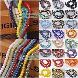 100pcs-6mm-Rondelle-Faceted-Crystal-Glass-Charms-Loose-Spacer-Beads-Findings