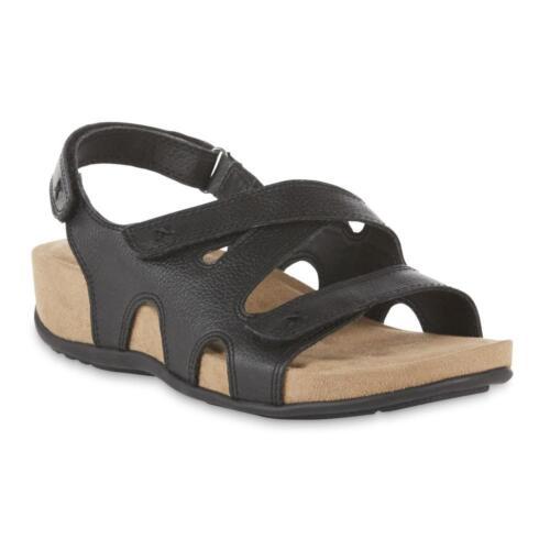 Cobbie Cuddlers Women/'s Megan Leather Slingback Sandal Black or Cream 52252 NWT