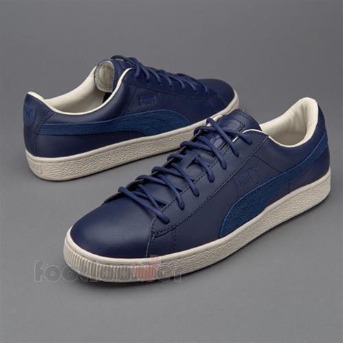 Scarpe Puma Basket Classic 361352 02 scarpe da ginnastica uomo Blue Retrò