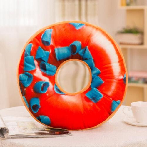 Soft Plush Pillow Stuffed Seat Pad Sweet Donut Food Cushion Cover 40cm Case 9