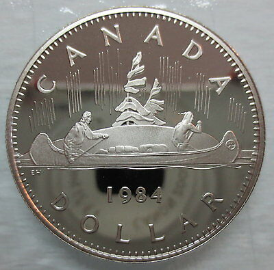 1984 CANADA VOYAGEUR PROOF ONE DOLLAR COIN
