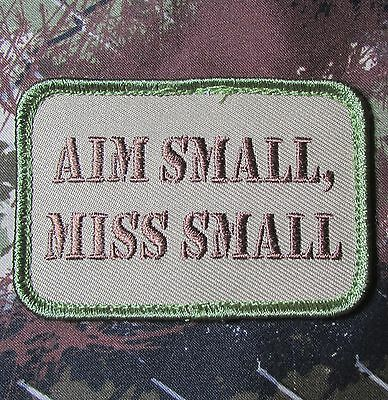 Aim Small Miss Small Usa Army Morale Multicam Velcro Brand Fastener Patch Original Current Army Patches Original Current Military Patches 2001 Now