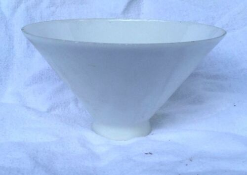 "Vintage Small Milk Glass Torchiere Light Diffuser Shade 2"" fitter"
