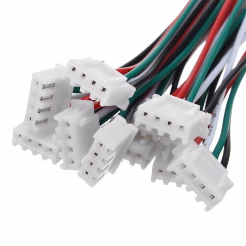 10 Sets 4 Pin Mini Micro JST XH 2.54mm 24AWG Connector Plug With Wires 150mm