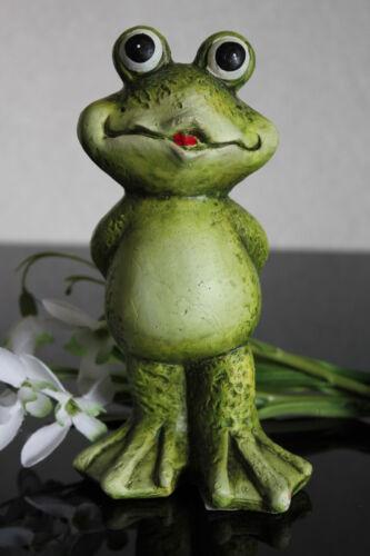 deko Frosch aus Keramik stehend Figur Skulptur Balkon Garten 15,5cm Motiv A