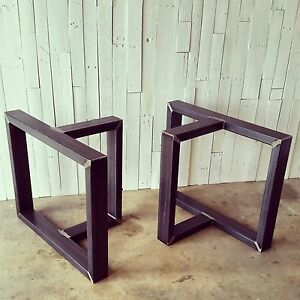 Image is loading DIY-T-Shaped-Metal-Table-Legs-Base-Unfinished-