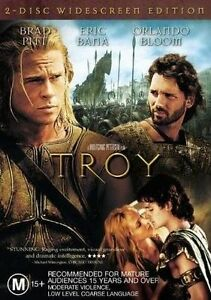 Troy-R4-DVD-2004-2Disc-Set-Brad-Pitt-Eric-Bana-amp-Orlando-Bloom-GC-FREE-POST