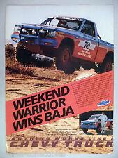 Chevrolet S-10 Pickup Truck PRINT AD - 1986 ~~ Mike Horner, Baja 1000 Race