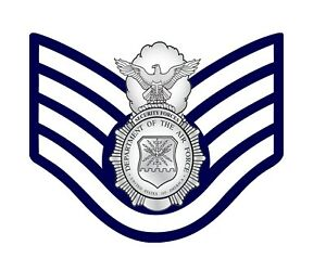Details about USAF Security Forces (SF) Badge and E-5 Stripes Decal