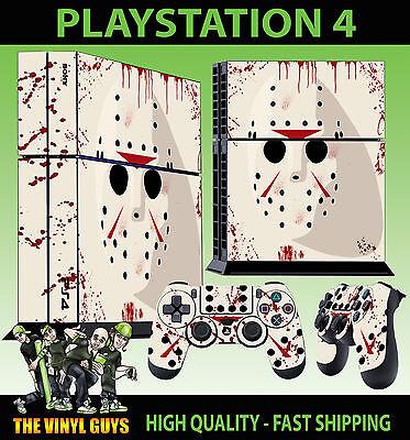 Polster Abziehbilder Vinyl Faceplates, Decals & Stickers Ps4 Skin Jason Voorhees Maske Halloween Bloody