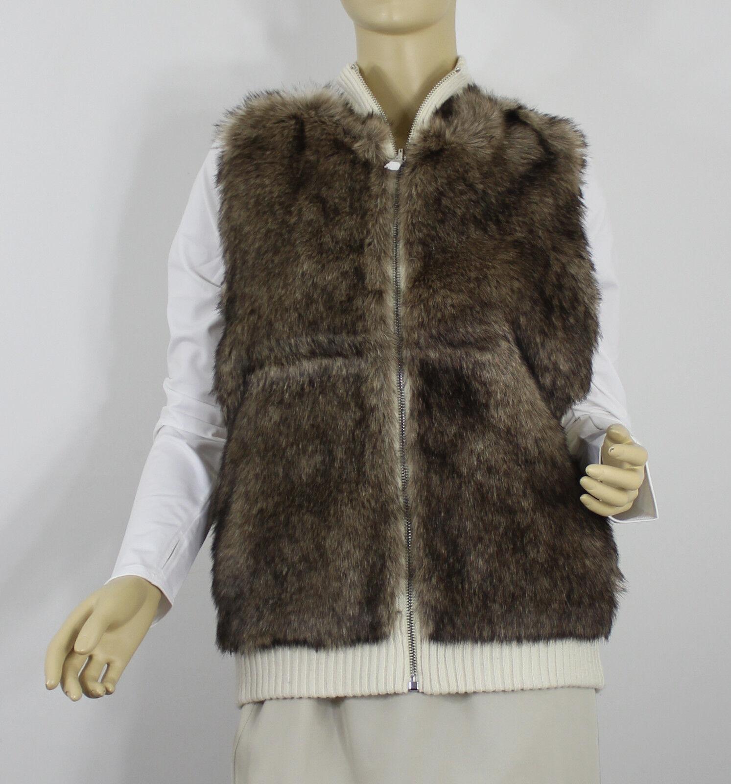 Polo Ralph Lauren Womens Sweater Vest Vest Vest Medium Beige Wool Cashmere Fur 3abbe1