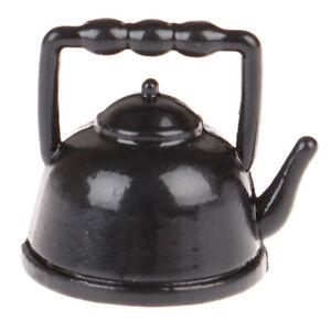 1-12-Dollhouse-Miniature-Mini-Black-Teapot-Model-Furniture-Accessories-Toys-YK