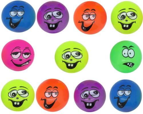 Leuchtball LED Smiley Lachgesicht Flummi Gummiball Leucht Gummi Ball Mitgebsel