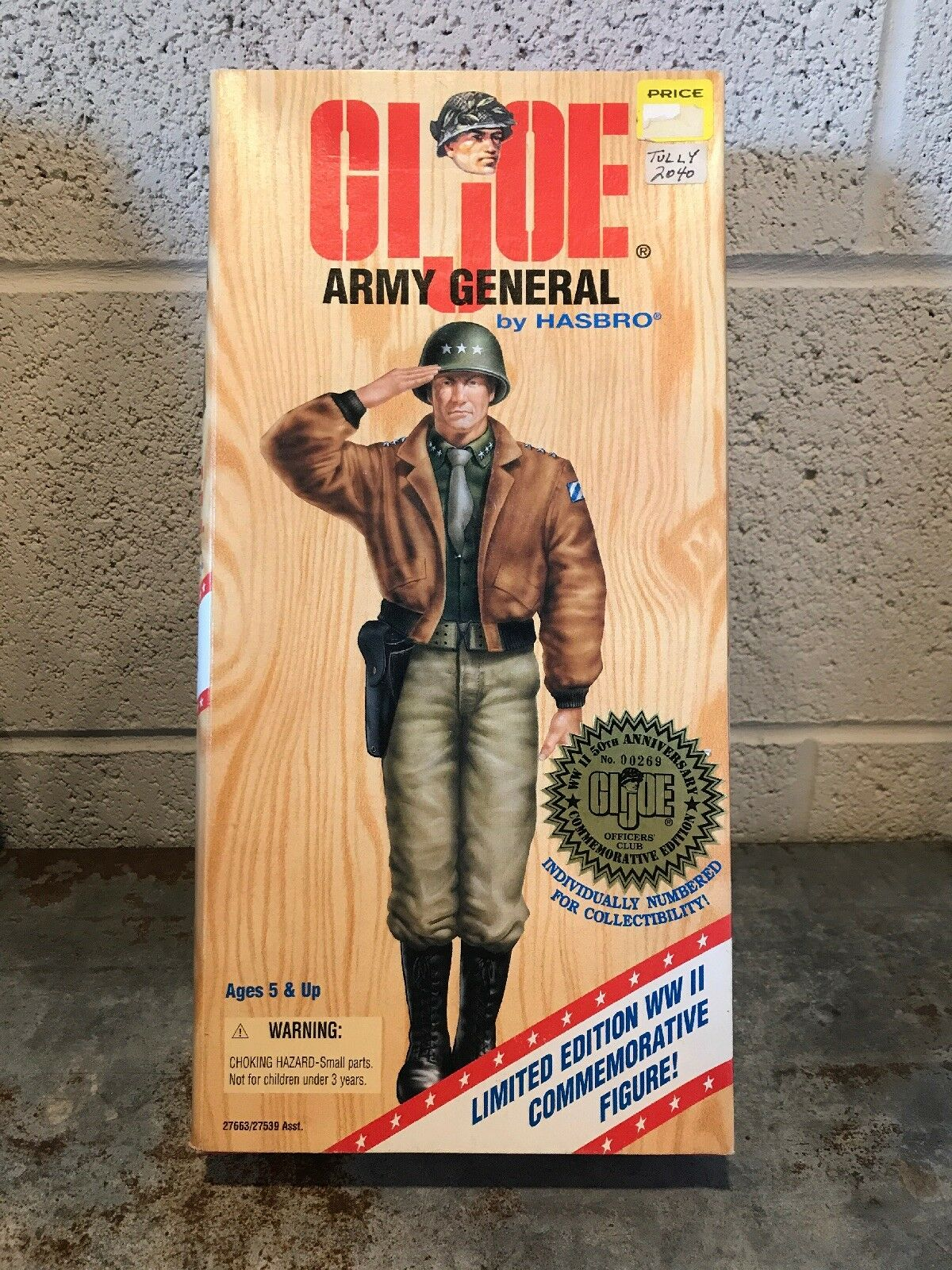 GI JOE Army General WW ll 50th Anniversary Commemorative  Numbered Edition 00269