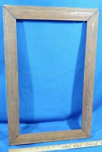 HEAVY-Solid-Oak-Large-Antique-Picture-Frame-Wood-Photo-Painting-Mirror-VTG-23-5x