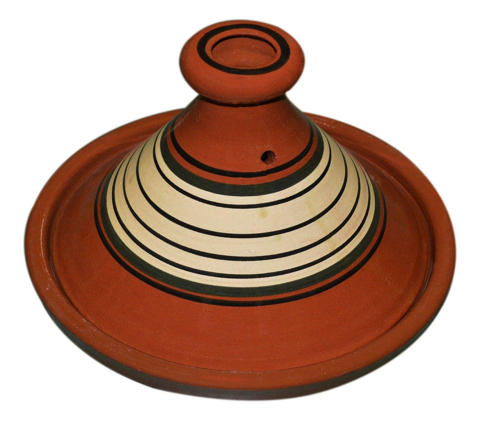 Marocain cuisson tagine pot Tajine sans plomb terre cuite vernissée Large 12