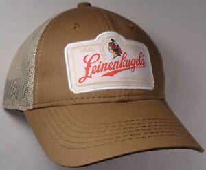 Image is loading Hat-Cap-Licensed-Leinenkugels-Tan-Mesh-Brown-OC 573e5eb0ad0