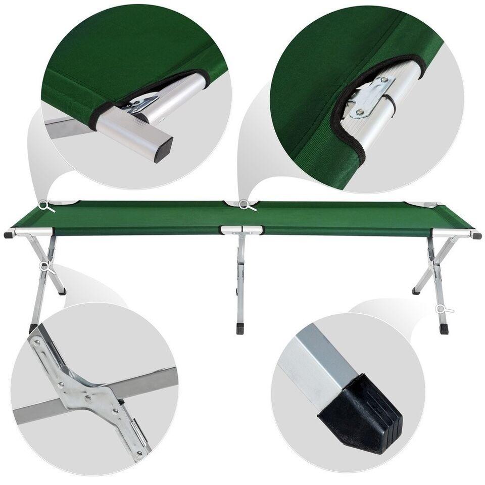 4 Feltsenge i aluminium grøn