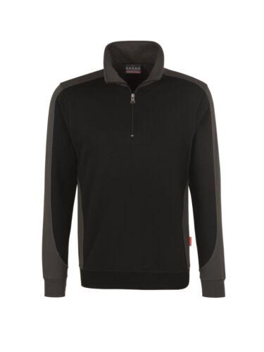 Art Performance Sweatshirt mit Troyerkragen und Reißverschluß von Hakro 476