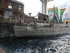 Pro Built 1/76 German Schnell Boot Harbour Diorama