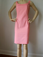NEW ST JOHN KNIT SPORT 6 SHEATH DRESS WATERMELON ORANGE PEACH COTTON SPANDEX