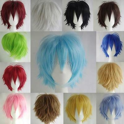 New Fashion Short Wig Cosplay Party Costume Straight Wigs Full Wig W/Mesh Cap