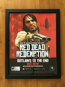 Framed Red Dead Redemption Print Ad/Poster Official Xbox 360 PS3 Wall Art Decor