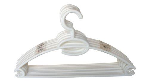 Home Basics NEW Closet Standard Plastic Hanger Hangers 10 Pack White PH01281